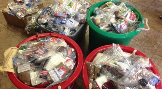 Hygiene Kits for the Homeless: August 30, 2015