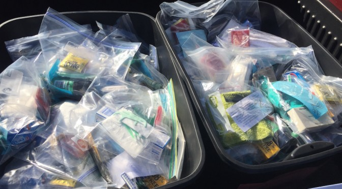 Hygiene Kits for the Homeless, February 7, 2016