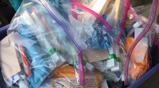 Hygiene Kits for the Homeless: August 26, 2018