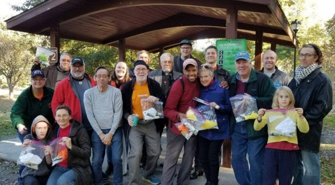 Hygiene Kits for the Homeless volunteers in Candler Park, November 11, 2018